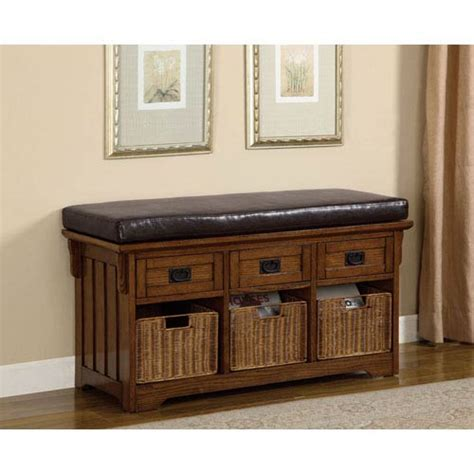 Small Storage Bench Oak Small Storage Bench With Upholstered Seat Coaster Furniture Storage Benches Accent S