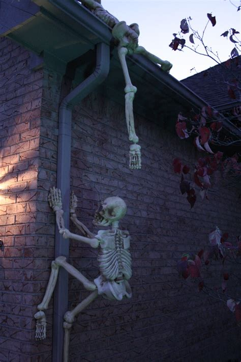 easy outside decorations indoor outdoor skeleton decorations ideas