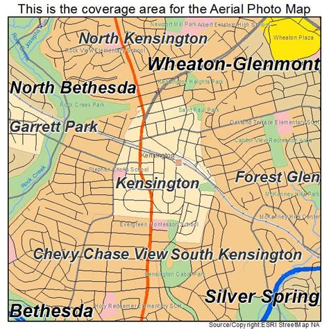 kensington md aerial photography map of kensington md maryland