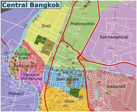 bangkok map bangkok area guide yes to travel