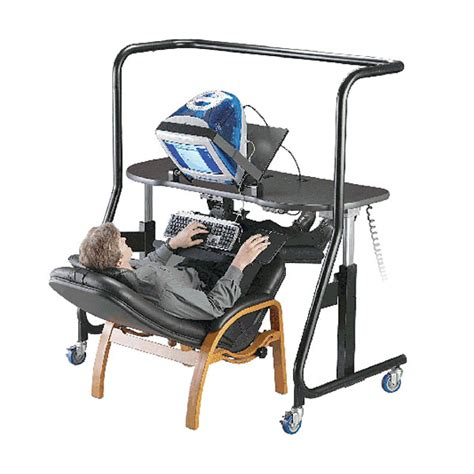 reclined workstation maxiaids sit stand recline workstation model 500