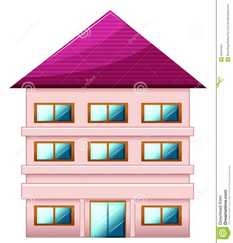 three stories a big three story house stock vector image of graphic