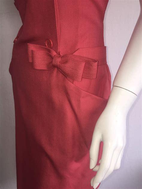 Dress 8 W Belt Pink vintage ricci raspberry pink breasted dress w