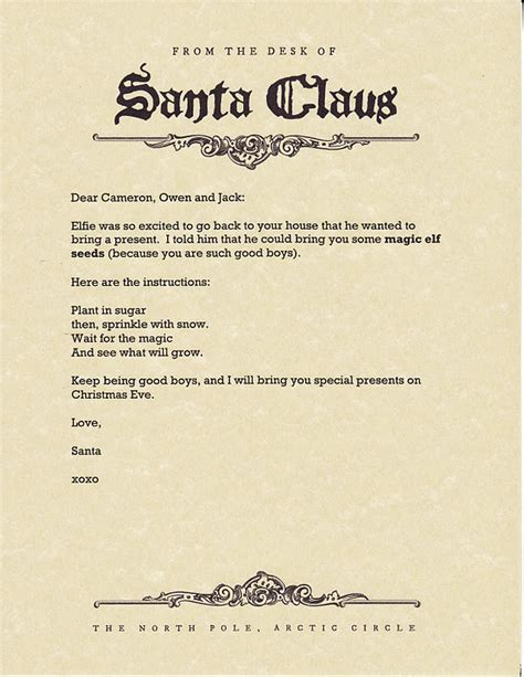 free printable magic elf letter east coast mommy magic elf seeds delivered by our elf