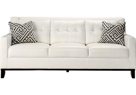 Home Decorating Ideas Comfort With Black And White White Leather Sofa And Loveseat