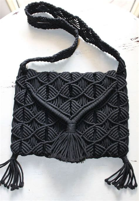 Tas Black White Messenger Dt0789bw 1000 ideas about macrame bag on macrame knots macrame patterns and paracord knots