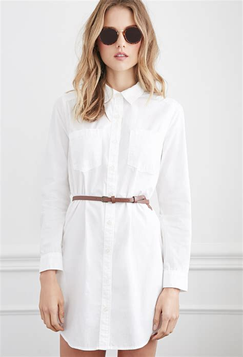 Classic Shirt Dress forever 21 belted classic shirt dress you ve been added to