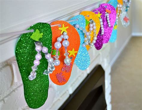 ideas for flip flop craft projects flip flops crafts birthday ideas