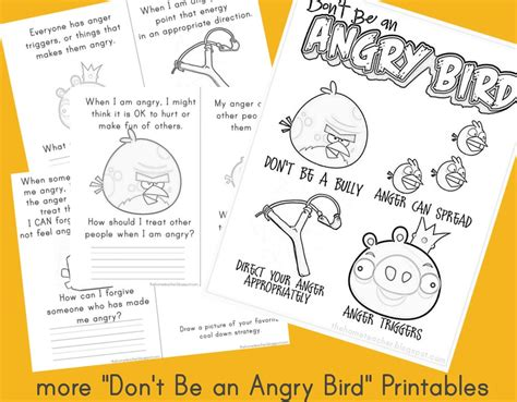angry birds anger management worksheets angry birds worksheet anger management rachael edwards