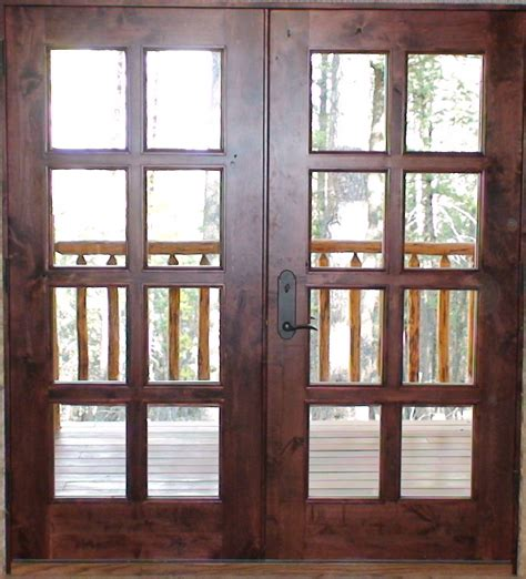 External Hardwood Patio Doors Black Metal Handle For Custom Solid Wood Exterior Patio Doors With Glass Insert Ideas