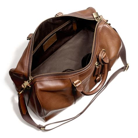 Coach Bleeker Leather Large Duffle by Coach Bleecker Duffle Bag In Leather Nyc Coachdiscount
