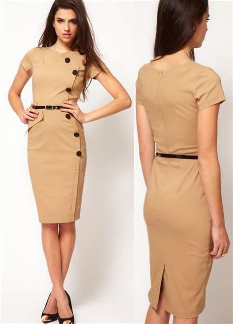 modele de robe de bureau free shipping fashion dress bottom front pencil dresses