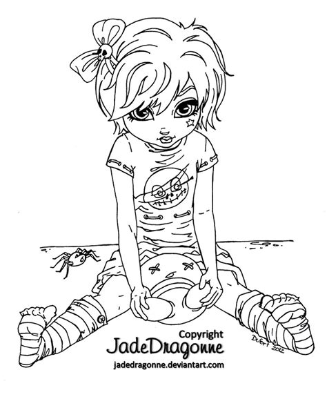 coloring book for goths doll lineart by jadedragonne on deviantart