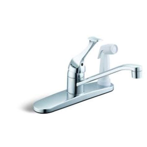 glacier kitchen faucet glacier bay single handle white side sprayer kitchen