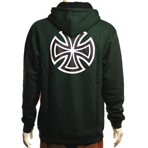 Hoodie Cross independent bar cross hoodie green forty two skateboard shop