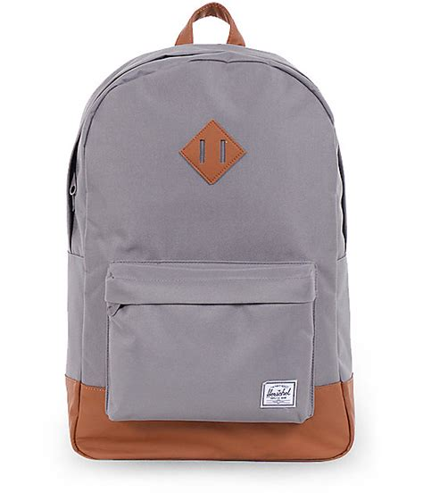 herschel supply co heritage grey 21l backpack
