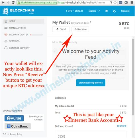 Lookup Bitcoin Address Bitcoins How To Create A Blockchain Wallet Account