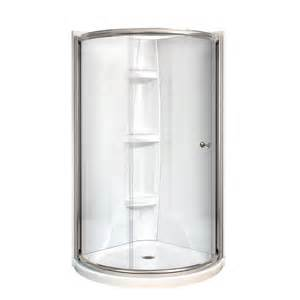shop maax tully nickel acrylic 4 corner shower