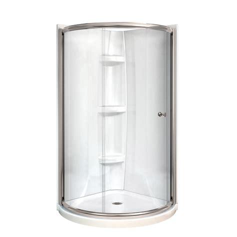 4 Shower Kit by Shop Maax Tully Nickel Acrylic 4 Corner Shower