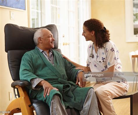 home health care stock photo getty images