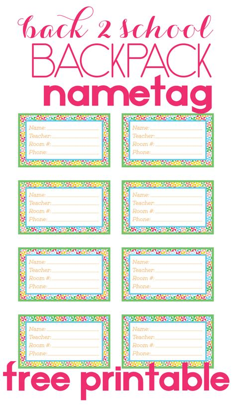 printable paper name tags back to school backpack name tag backpacks stuffing and