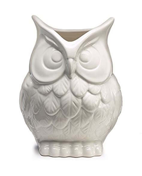 White Ceramic Owl Vase by White Ceramic Owl Vase Decorative Vase For Owl Home