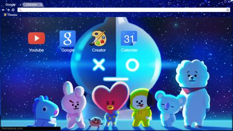 kpop theme makers bt21 bts characters for line chrome theme themebeta