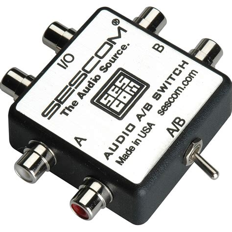 Rayden Av Rca Switcher sescom ses audio ab rca stereo audio mp3 ipod flac ses