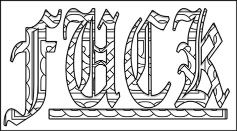 word coloring pages printable swear word coloring pages printable free coloring page