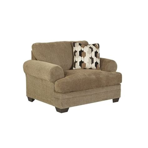 Ashley Kelemen Fabric Oversized Chair And Ottoman In Amber Oversized Chair Ottoman