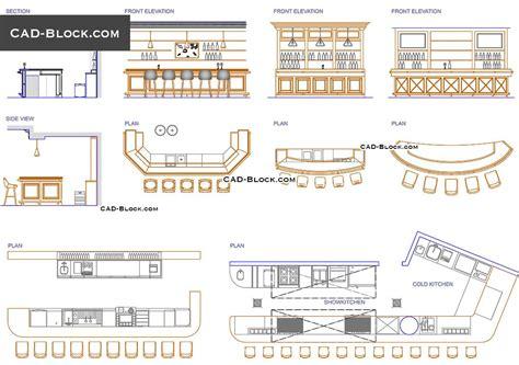 bar design cad drawings id ideas   cad blocks