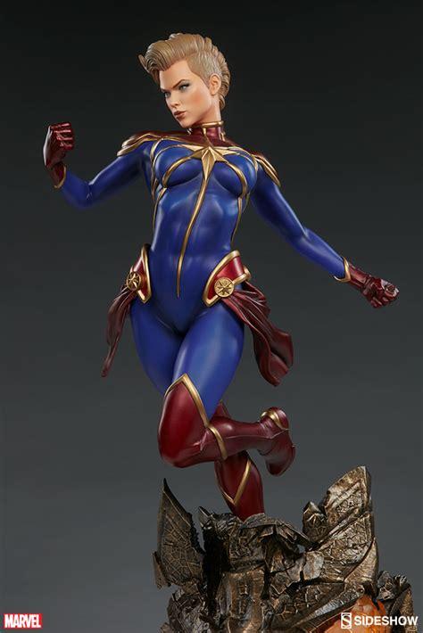 captain premium marvel captain marvel premium format tm figure by