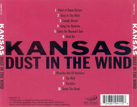 kansas dust in the wind wow what a index of caratulas k kansas