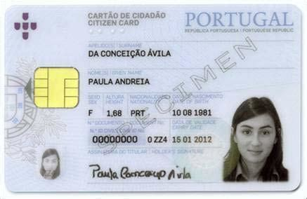 national id card template citizen card portugal