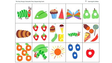 hungry caterpillar templates free hungry caterpillar food templates www topsimages