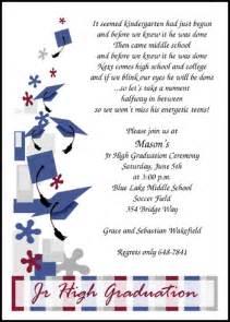 8th grade middle school jr high graduation announcements