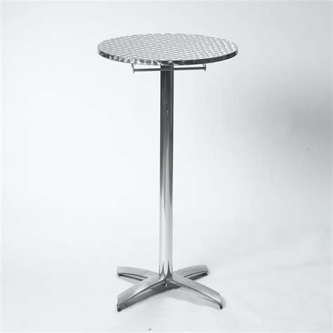24 Round x 42 high Brushed Aluminum Standup Cocktail Table Rental   Pittsburgh, PA
