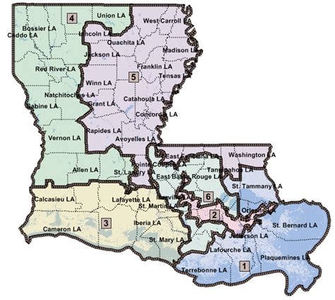 louisiana house map louisiana congressional district maps jmc enterprises of