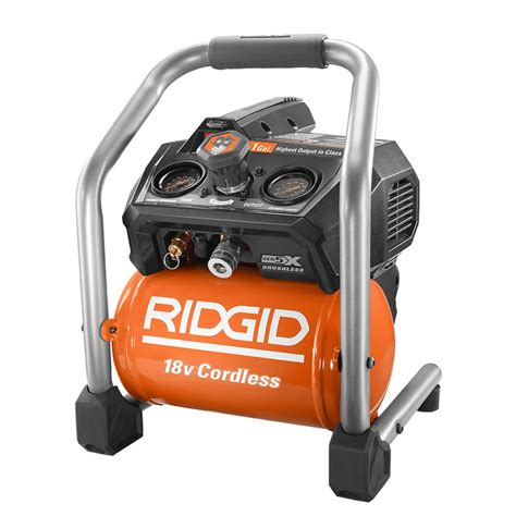 ridgid 1 gal 18 volt brushless cordless air compressor r0230 the home depot