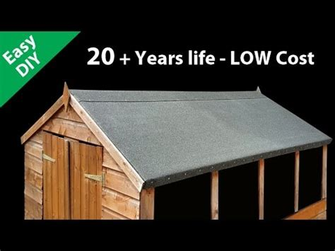 How To Lay Roofing Felt On A Shed by How To Felt A Shed Roof Fit Roofing Felt