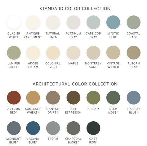 color options siding color options window world of island