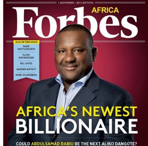 forbes names billionaires of 2013 with dangote on the top