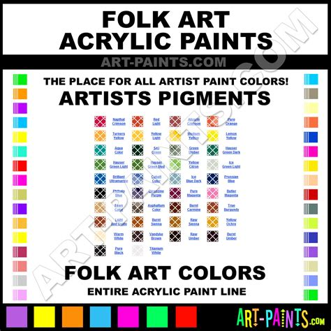 folk artists pigments acrylic paint colors folk artists pigments paint colors artists