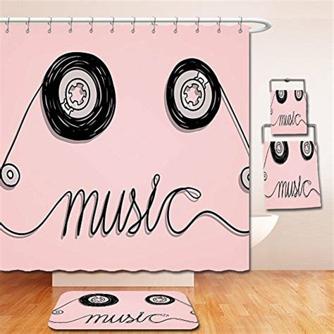 music themed bathroom fun music themed shower curtains for music lovers