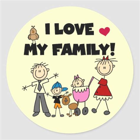 love  family tshirts  gifts classic  sticker zazzle