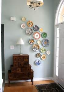 diy wall from plates a pop of pretty canadian