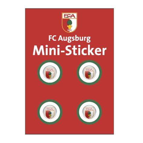 Hsv 3d Aufkleber by Fc Augsburg Mini Sticker Set 3d Bundesliga Dfl Sgl
