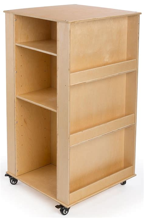 children s mobile book stand 4 sided baltic birch