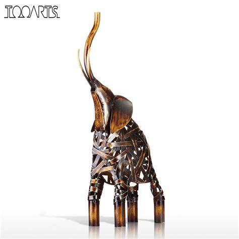 Animal Figurines Home Decor tooarts metal weaving elephant figurine iron figurine home