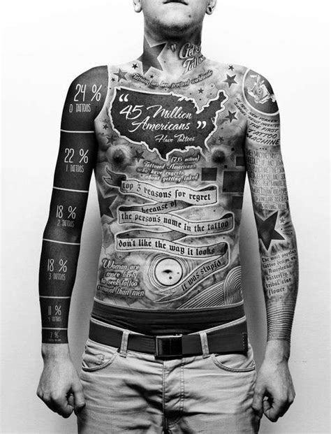 paul rousso art by a unique money full body infographic tattoos tattoo statistics